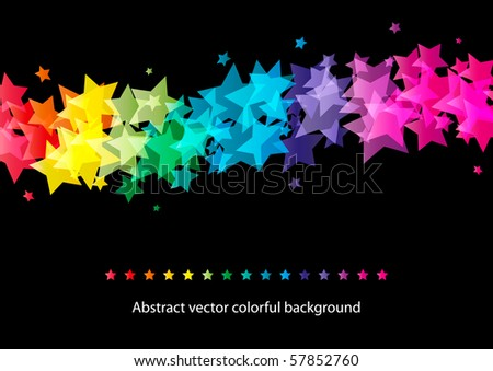 Abstract star colorful background (eps10) - stock vector