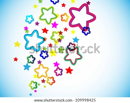 Abstract  star colorful background. Vector