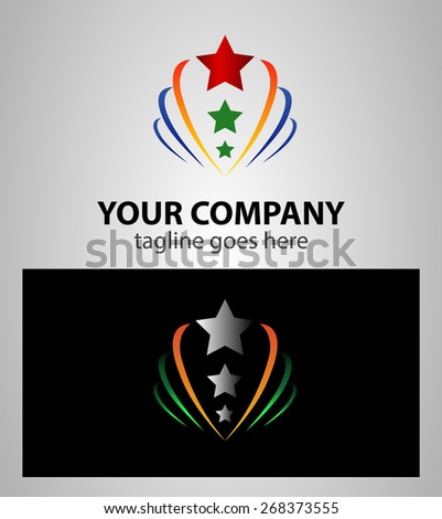 Abstract star growth, sign Branding Identity Corporate logo design template�   - stock vector