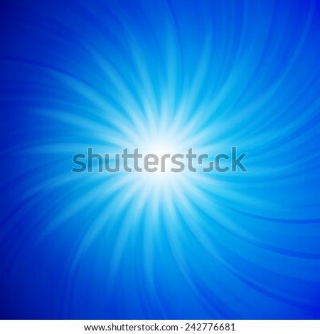 Abstract star in blue colors. Vector background for you design, web design, desktop wallpaper or website. - stock vector