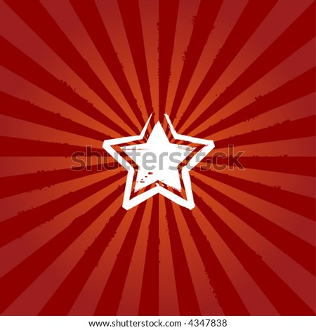 Abstract star on sunburst background