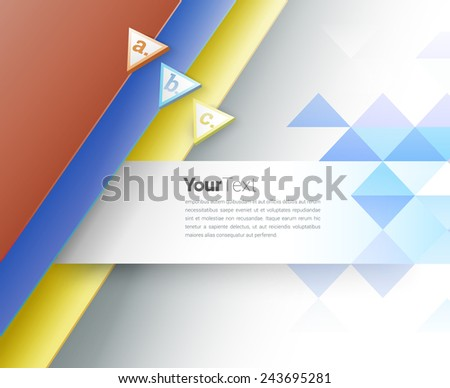 Abstract Stationery Business Vector Illustration for All Media - stock vector