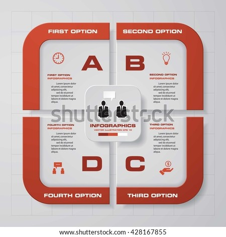 Abstract 4 steps infographic elements.Vector illustration. - stock vector