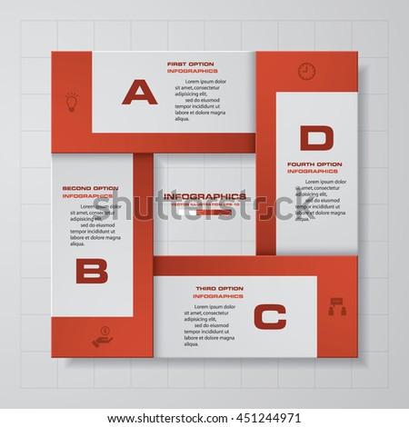 Abstract 4 steps infographis/presentation elements.Vector illustration. EPS10. - stock vector