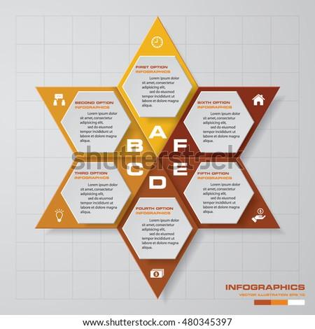 Abstract  Steps Star Shape Chart Stock Vector   Shutterstock