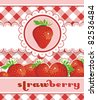 Abstract Strawberry Card Design, detailed vector illustration. Elegance food background. - stock vector