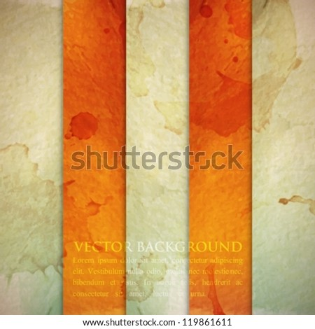 abstract striped background with grunge cardboard texture - stock vector