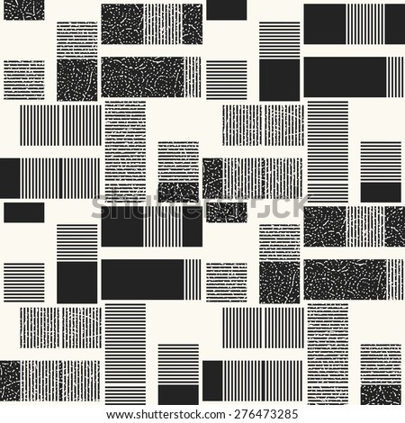Abstract striped block textured background. Seamless pattern. - stock vector
