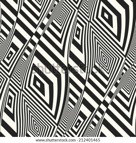 Abstract striped textured geometric elements seamless pattern. Vector. - stock vector