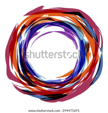 Abstract stripes watercolors pattern : vector eps.10 - stock vector