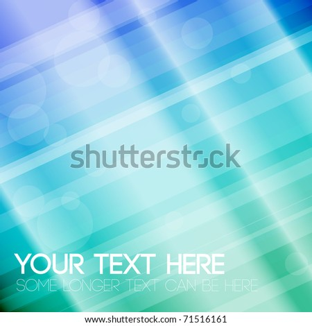 Abstract stripped background - blue and green - stock vector