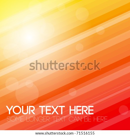 Abstract stripped background - yellow, orange and red - stock vector