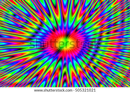 Abstract Structural Curved Pattern. Rainbow Lines and Colorful Waves. Poster for Print. Vector Illustration
