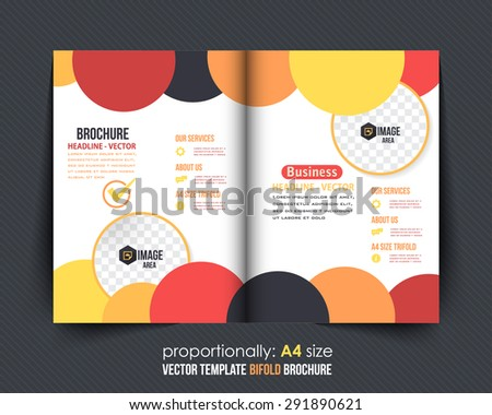 Abstract Style Business Style Bi-Fold Brochure Design. Corporate Leaflet, Cover Design Template - stock vector