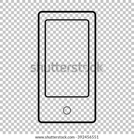 Abstract style modern gadget line vector icon on transparent background - stock vector