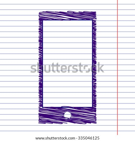 Abstract style modern gadgets with blank screen with pen effect . Template for any content