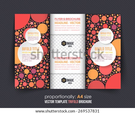 Abstract Style Multicolor Elements Business Concept Tri-fold Design and Brochure, Catalog Vector Template  - stock vector