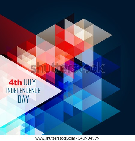 abstract style 4th of july american independence day background - stock vector