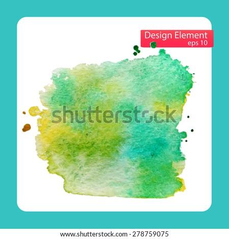 Abstract stylish Blob watercolor paint. Vector illustration  - stock vector