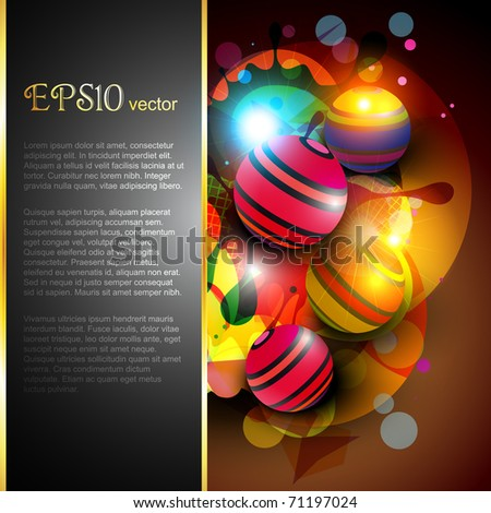 abstract stylish colorful vector design - stock vector