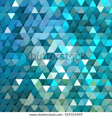 Abstract stylish geometric background with cool summer concept colors and vibrant tone.