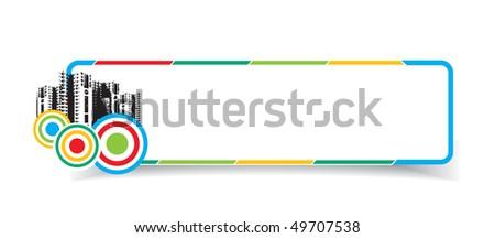 abstract stylish urban banners, vector illustration - stock vector