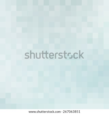 Abstract subtle tranquil blue mosaic textured by squares. Pale vector pattern - stock vector