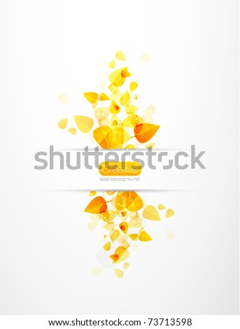 Abstract summer background. Nature vector illustration - stock vector