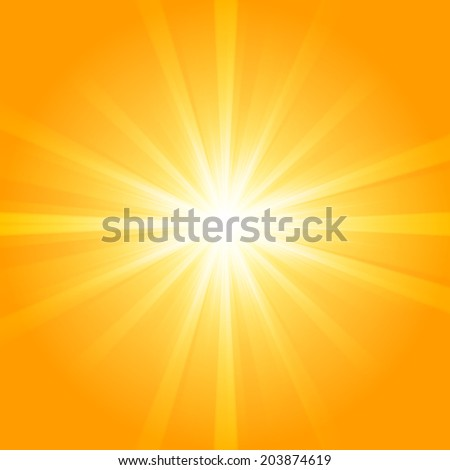Abstract summer background, sunburst design - stock vector