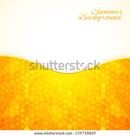 Abstract summer background with honey texture - stock vector