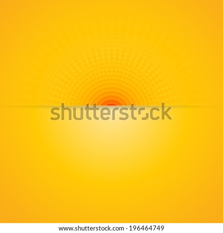 Abstract summer background with hot yellow & orange color tones - stock vector