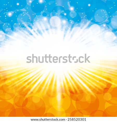 Abstract summer spring design background  - stock vector