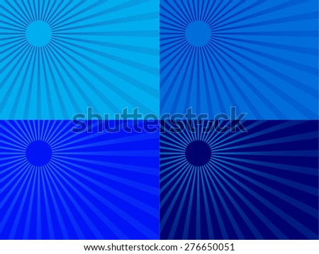 Abstract sun background - stock vector