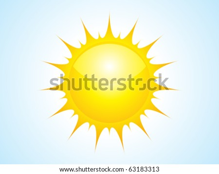 abstract sun icon vector illustration - stock vector