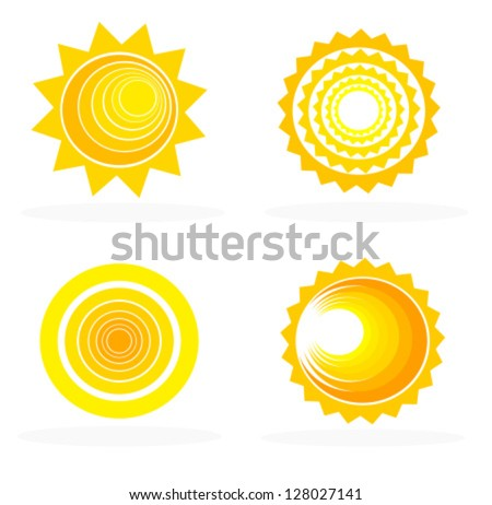Abstract sun icons collection - vector illustration - stock vector