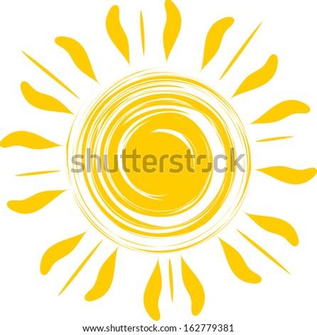 Abstract sun illustration - stock vector