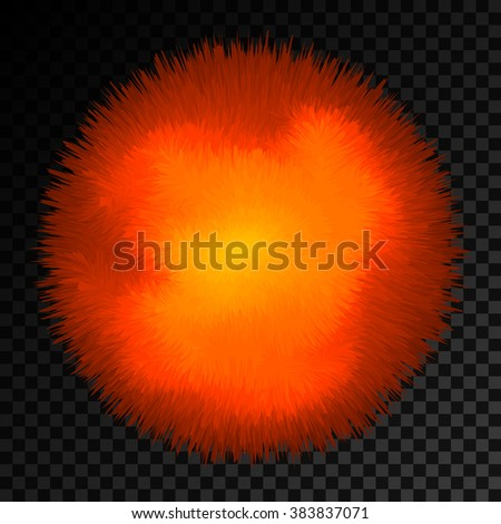 Abstract sun on transparent background. Vector eps10. - stock vector