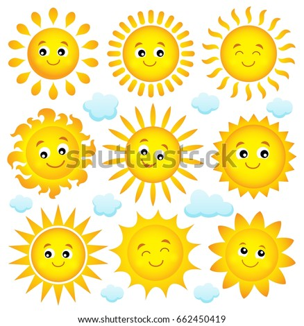 Abstract sun theme collection 4 - eps10 vector illustration.