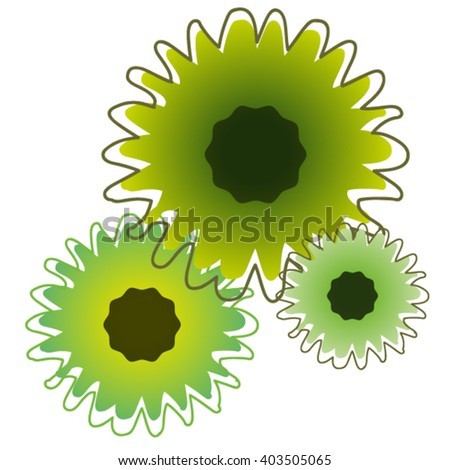 Abstract sunflowers - stock vector