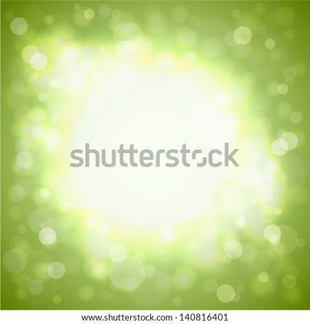 Abstract sunny burst illustration - eps10  - stock vector