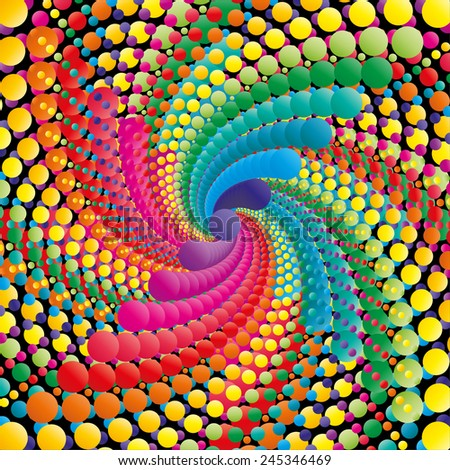 Abstract swirl colorful background, vector illustration - stock vector