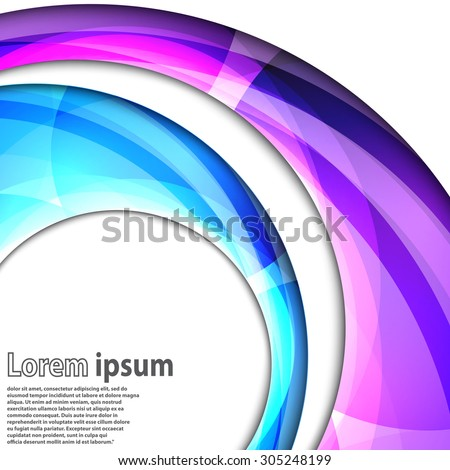 Abstract swirl energy blue and violet circle futuristic frame modern hi-tech folder template. Vector illustration - stock vector