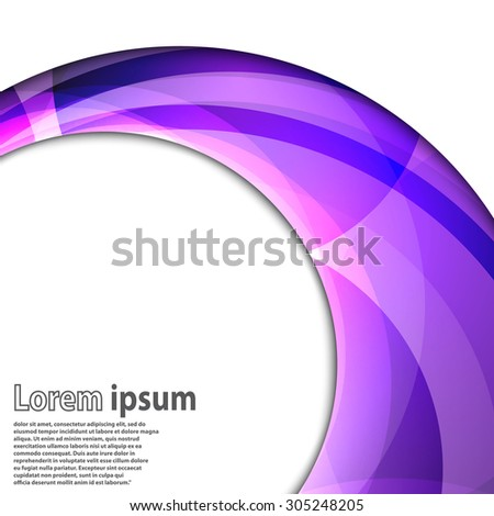 Abstract swirl energy violet circle futuristic frame modern hi-tech folder template. Vector illustration - stock vector