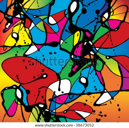 Abstract swirl painting background - stock vector