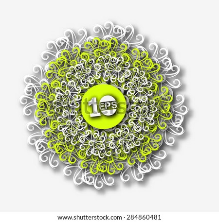 Abstract Swirl Pattern Design, eps10 vector - stock vector