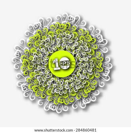 Abstract Swirl Pattern Design, eps10 vector - stock vector
