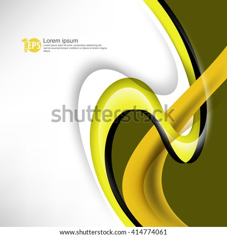 abstract swirling lines flat layout corporate design material background. eps10 vector - stock vector