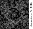 Abstract Swirly Seamless Pattern - Vector - stock vector