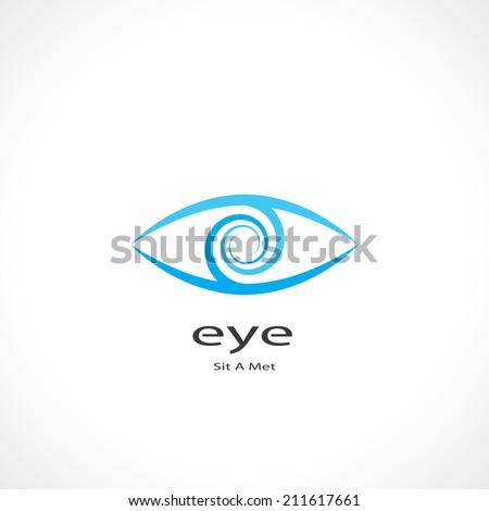 abstract symbol of eye. vector eps10 - stock vector
