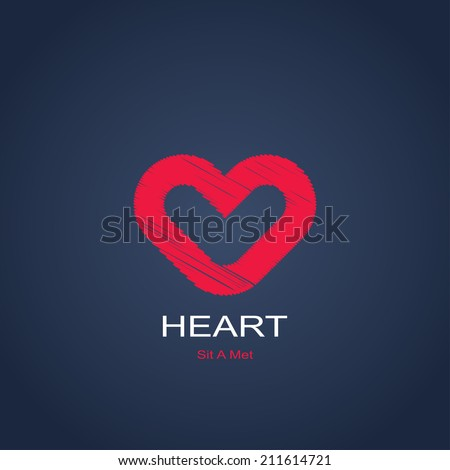 abstract symbol of heart. vector icon - stock vector